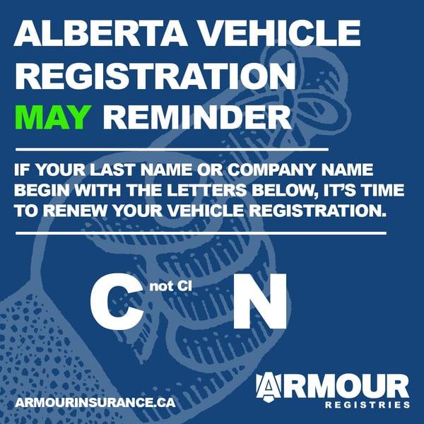 May Vehicle Registration Renewals