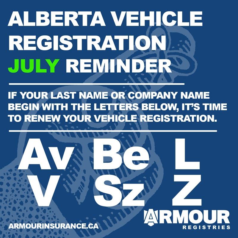 July Vehicle Registration Renewals
