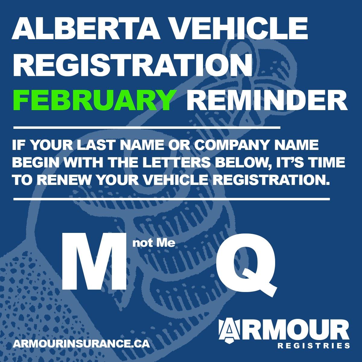 February Vehicle Registration Renewals