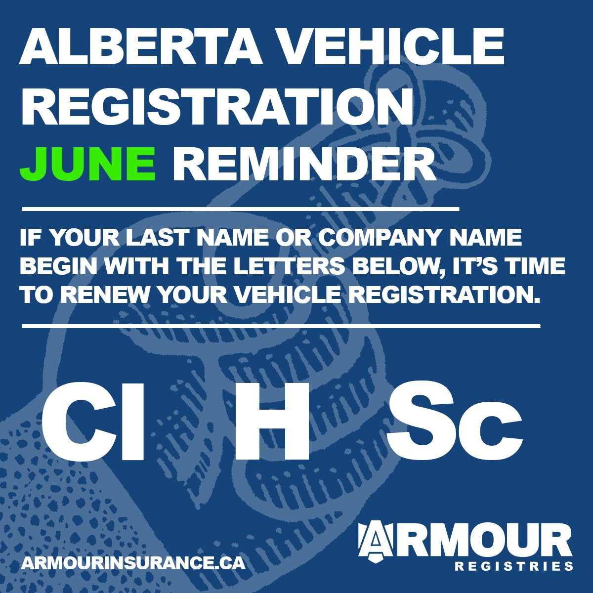June Vehicle Registration Renewals