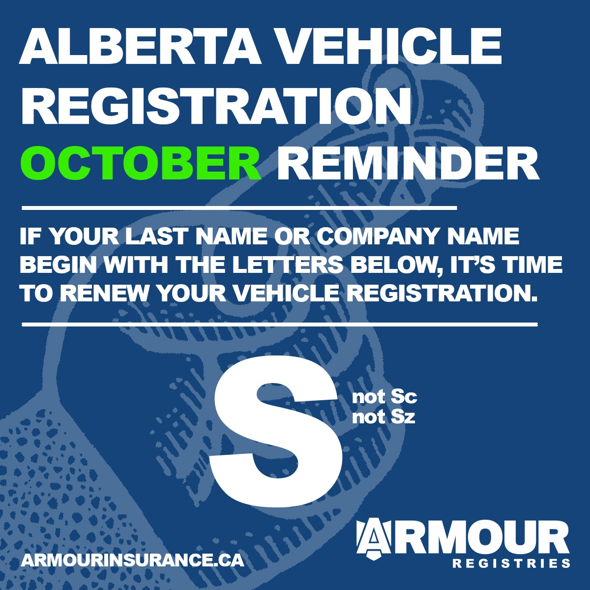 October Vehicle Registration Renewals